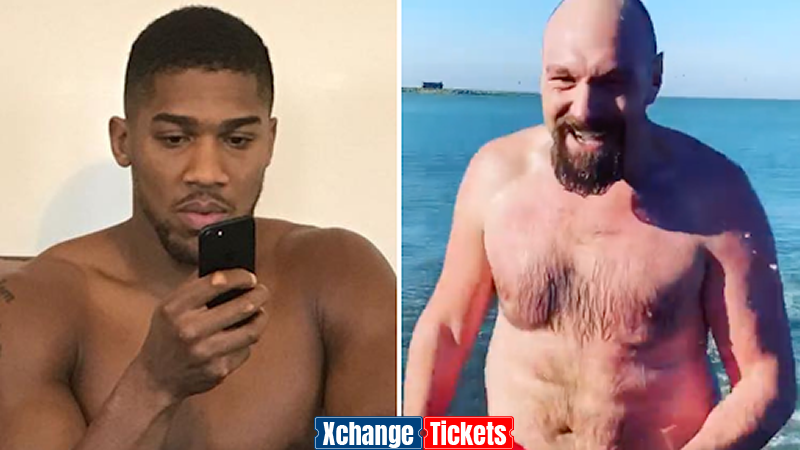 Eddie Hearn reveals Anthony Joshua's reaction to Tyson Fury's physique in Instagram video